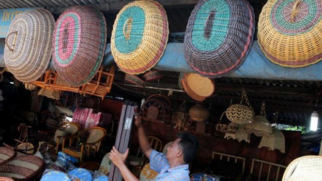 Penjual Rotan di Jakarta