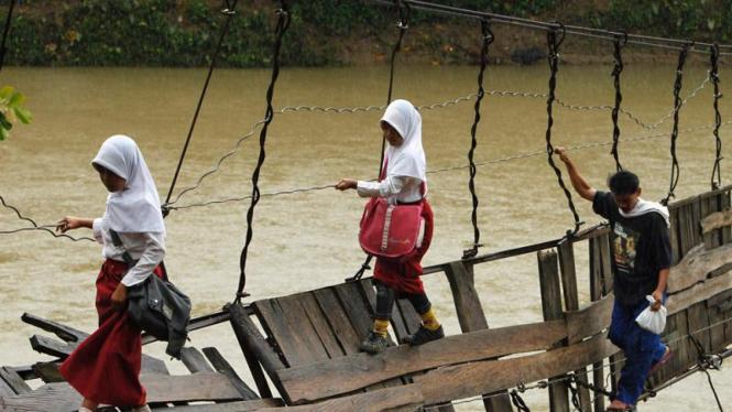 Jembatan rusak di Lebak, Banten