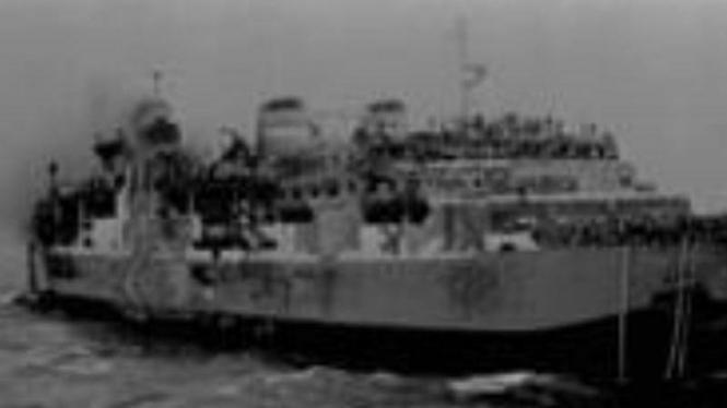 Kapal Tampomas II yang terbakar