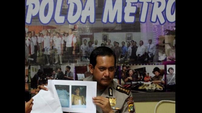 Jumpa Pers Kecelakaan Xenia Maut di Polda Metro Jaya