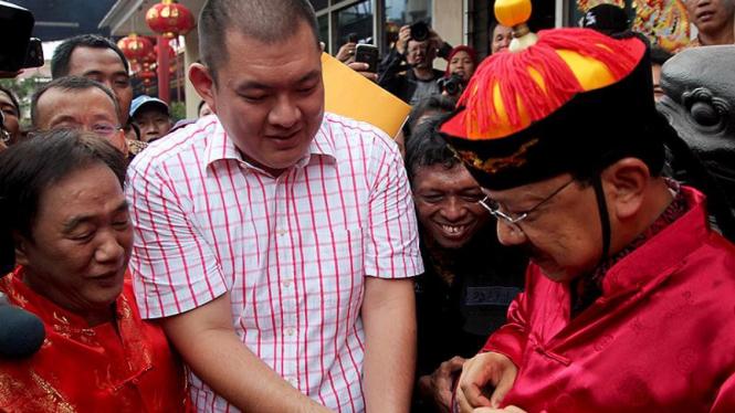 Fauzi Bowo Saat Perayaan Tahun Baru Imlek 2563 di Jakarta