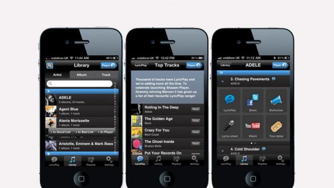 Shazam, aplikasi pemutar musik dan lirik untuk iOS