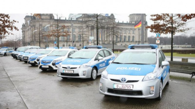 Toyota Prius jadi mobil patroli polisi Berlin