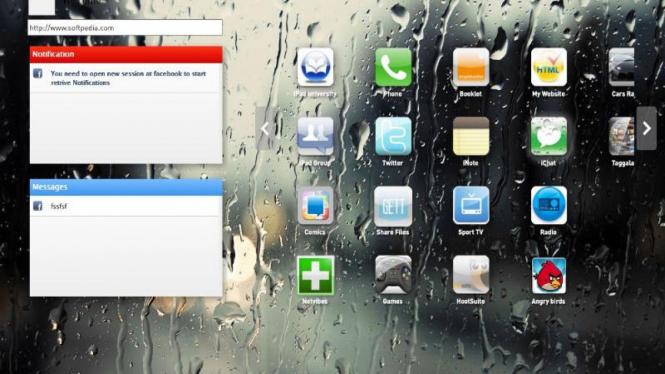 Tampilan desktop iPadian