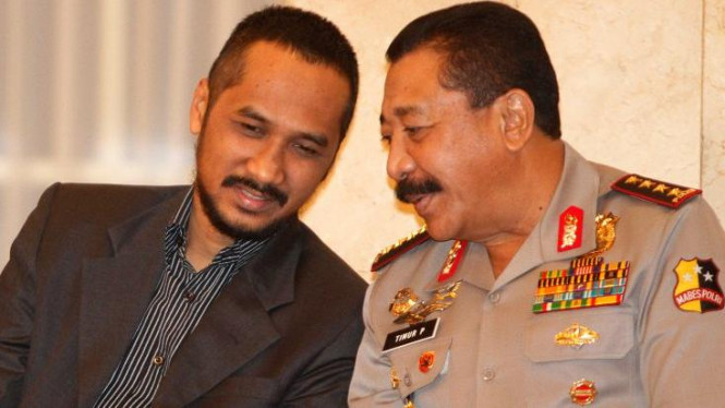 Ketua KPK Abraham Samad dan Kapolri Jenderal Timur Pradopo