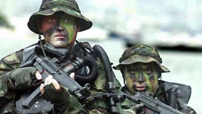 Personel pasukan khusus AS menjalani latihan