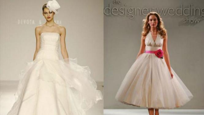 Gaun pernikahan bergaya retro