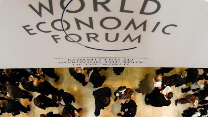 Para peserta Forum Ekonomi Dunia 2012 di Davos Swiss