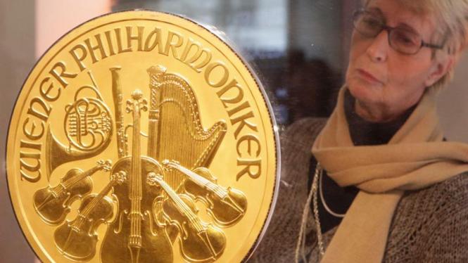Koin emas terbesar di Eropa