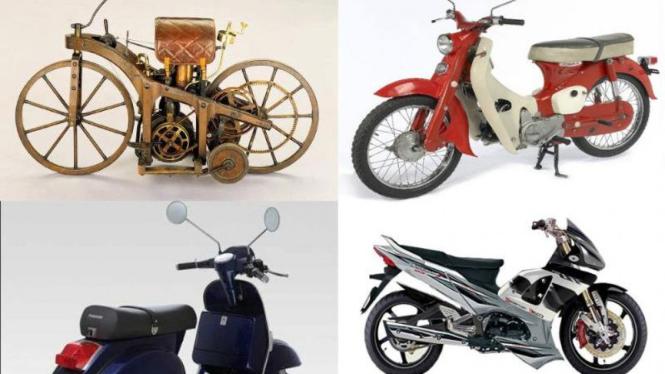 Perubahan bentuk sepeda motor