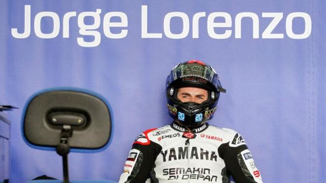 Pembalap Yamaha, Jorge Lorenzo, di Sirkuit Sepang