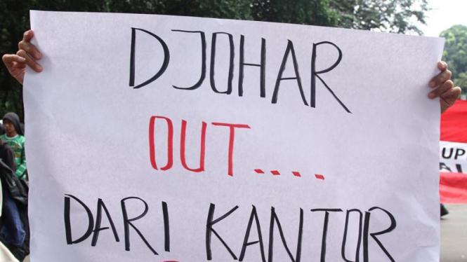 Aksi Demo Suporter di PSSI