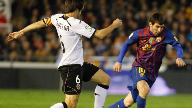 Valencia VS Barcelona di Piala Raja Spanyol