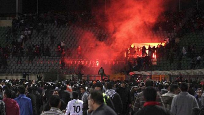 Kerusuhan suporter di Mesir