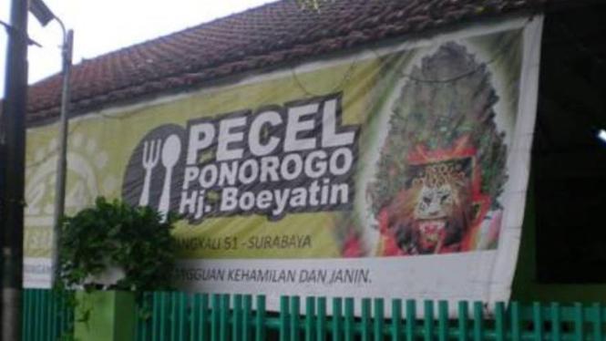 Spanduk Pecel Ponorogo