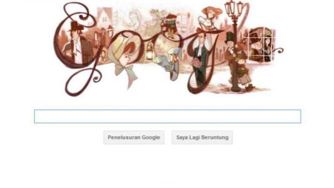 Doodle Google Rayakan Ulang Tahun Charles Dickens