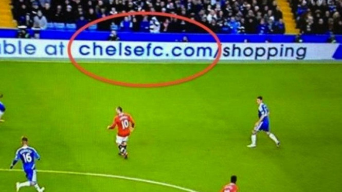 Iklan bilbor Chelsea yang salah
