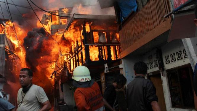 Kebakaran di Kawasan Pasar Baru