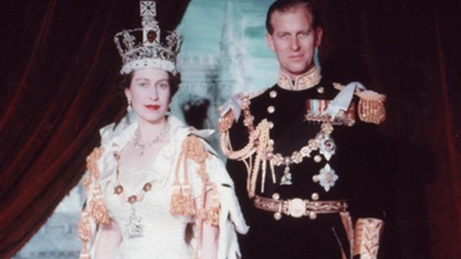 Ratu Elizabeth II dan suaminya Duke of Edinburgh