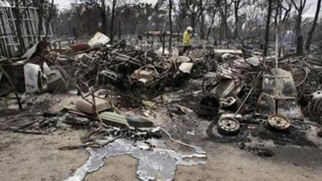 Lokasi kebakaran hutan di Australia 2009