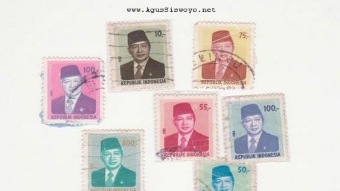 Perangko bergambar Soeharto