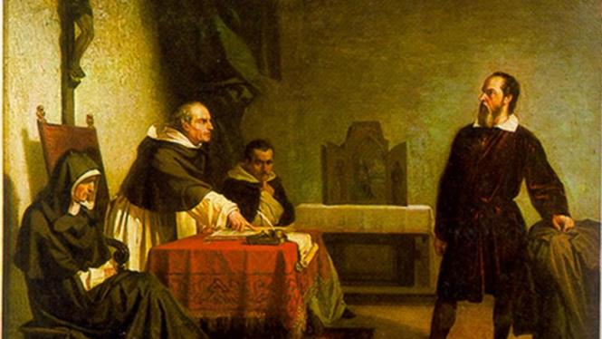 Lukisan Galileo Galilei diadili  karya Cristiano Banti