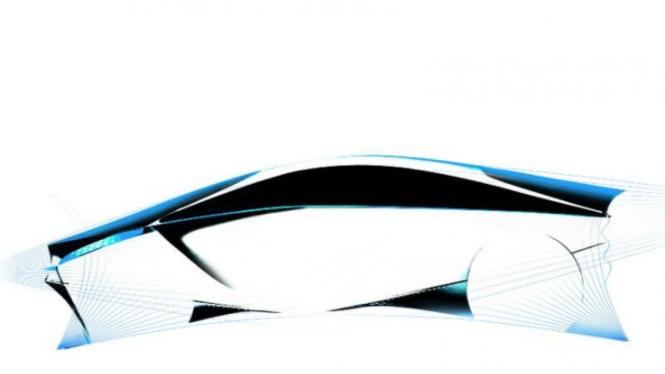 Sketsa mobil konsep Toyota FT-Bh