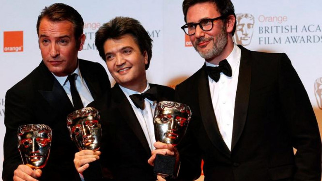 Jean Dujardin Thomas Langmann dan Michel Hazanavicius