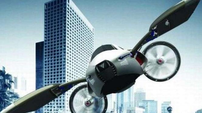 Konsep mobil terbang desain pelajar Cina, YEE