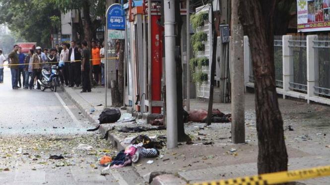 Lokasi ledakan bom di Bangkok, 14 Februari 2012