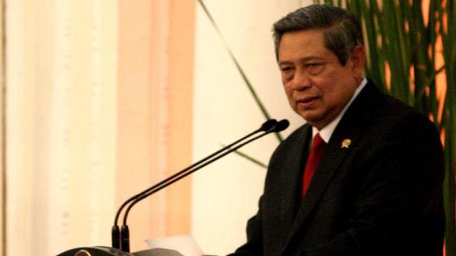 Presiden SBY pidato di depan para dubes