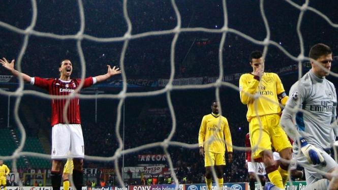 Pemain Ac Milan Zlatan Ibrahimovic