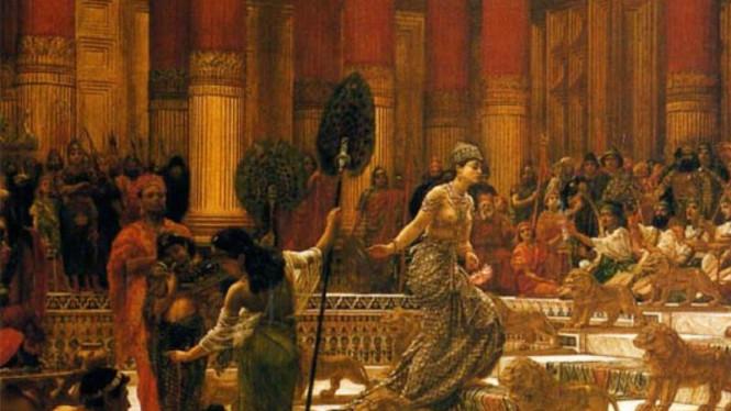 Ilustrasi Ratu Sheba menemui Raja Sulaiman