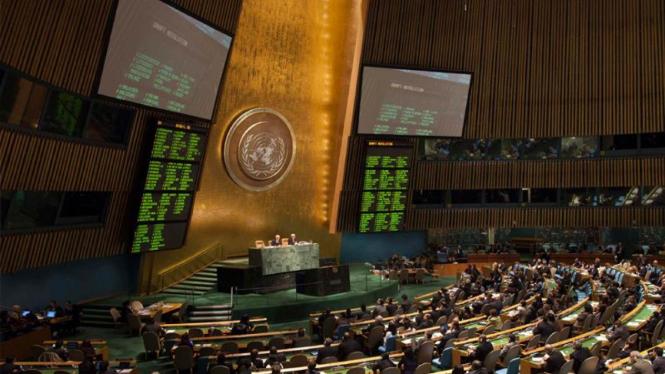 Suasana di Sidang Majelis Umum PBB.