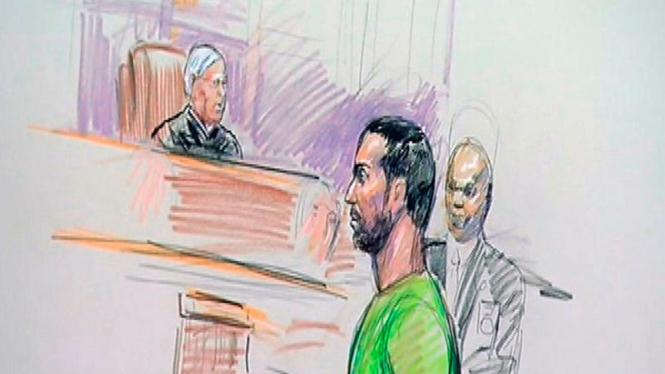 Sketsa sidang pengadilan AS atas Amine El Khalifi