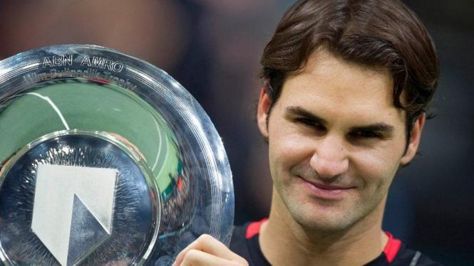 Roger Federer juara di Rotterdam