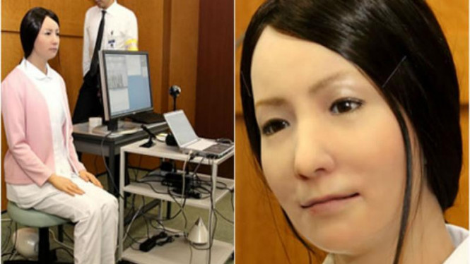 Robot Actroid-F jadi perawat di rumah sakit