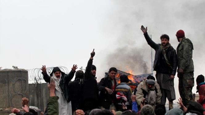 Protes pembakaran Quran di Afganistan