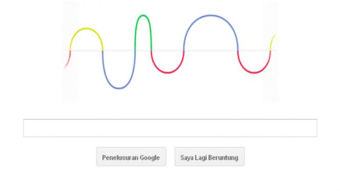 Google Doodle bertemakan gelombang (Hertz)