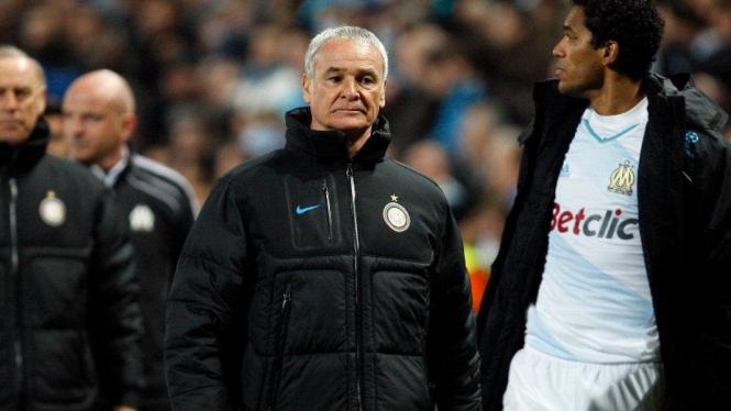 Pelatih Inter Milan Claudio Ranieri usai melawan Marseille