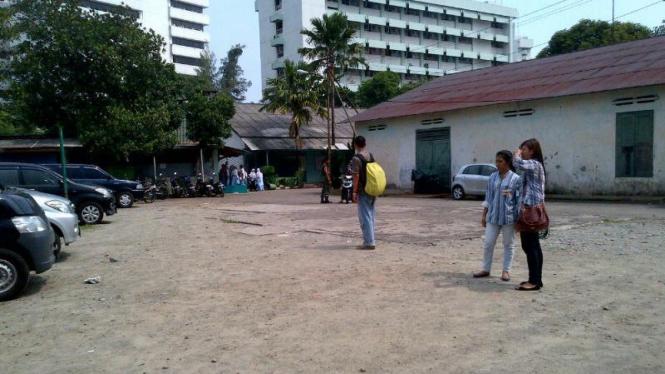 Lokasi bentrokan di RSPAD Gatot Subroto