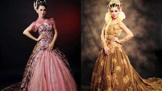 Gaun pengantin batik rancangan Ristya Stefanie