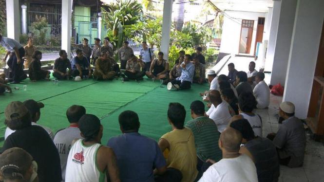 Suasana negosiasi di LP Kerobokan, Bali