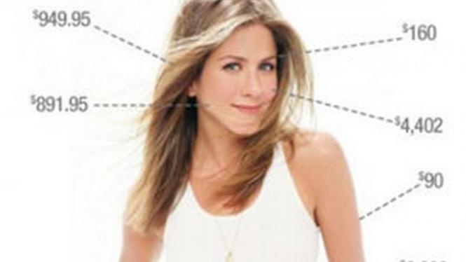 Jennifer Aniston dan biaya kecantikan