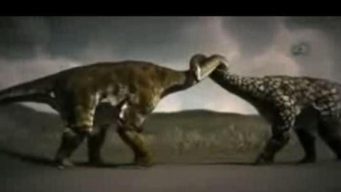 Sepasang dinosaurus