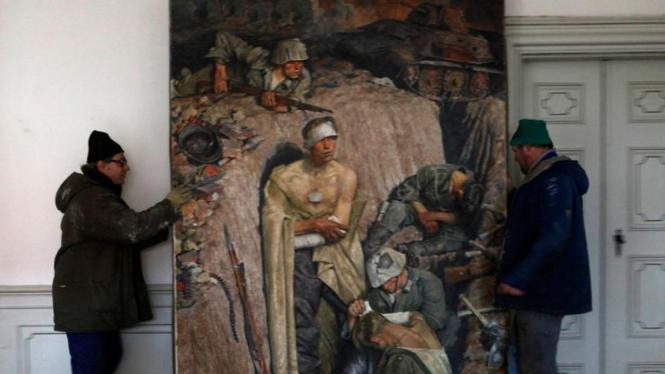 Lukisan Adolf Hitler yang ditemukan di Ceko