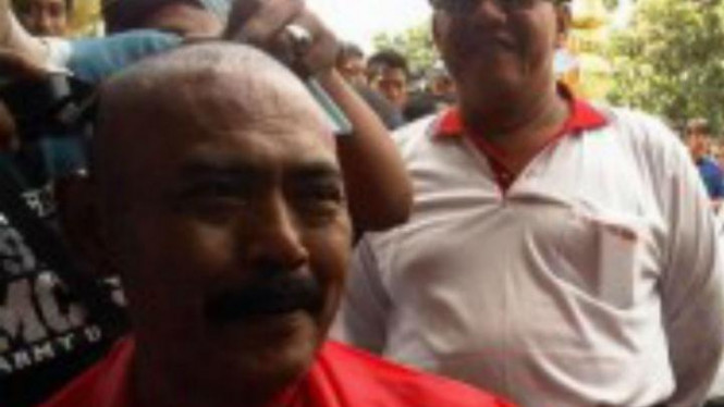 Wakil walikota Hadi Rudiyatmo 'digunduli'