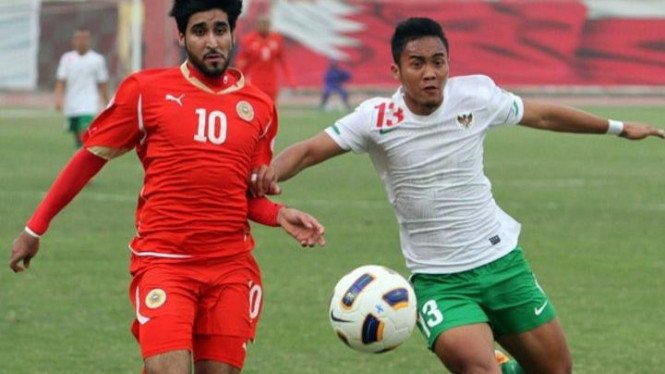 Gunawan Dwi Cahyo (kanan) saat Indonesia melawan Bahrain