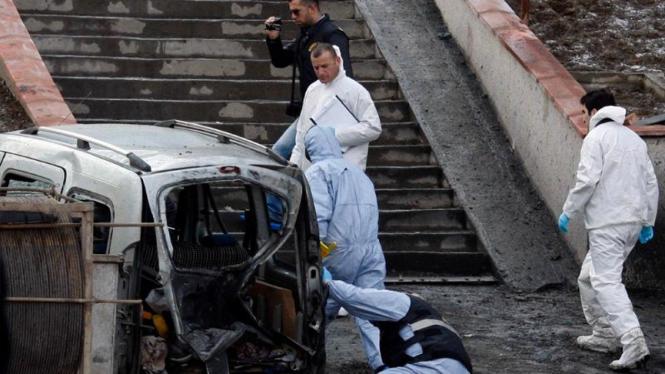 Ledakan di Istanbul, Turki, melukai 10 orang polisi.