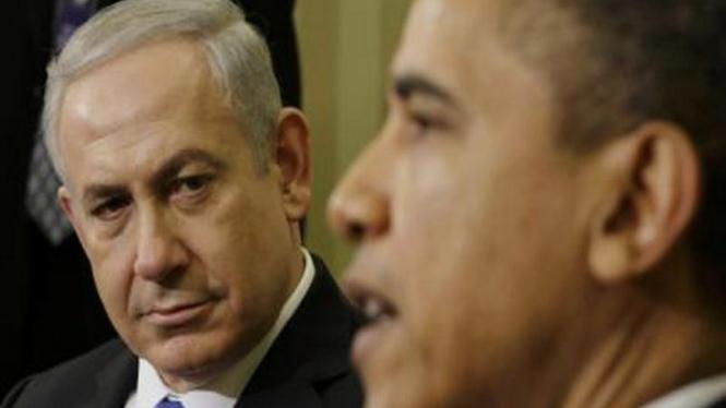 Pertemuan Presiden AS, Barack Obama, dan Perdana Menteri Israel, Benjamin Netanyahu, di Gedung Putih, beberapa tahun silam. Hubungan kedua pemimpin itu dikenal kurang harmonis meski AS dan Israel dikenal bersekutu erat sejak lama.
